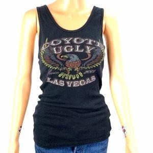 Women's Black Coyote Ugly Vegas Tank Top Size XL